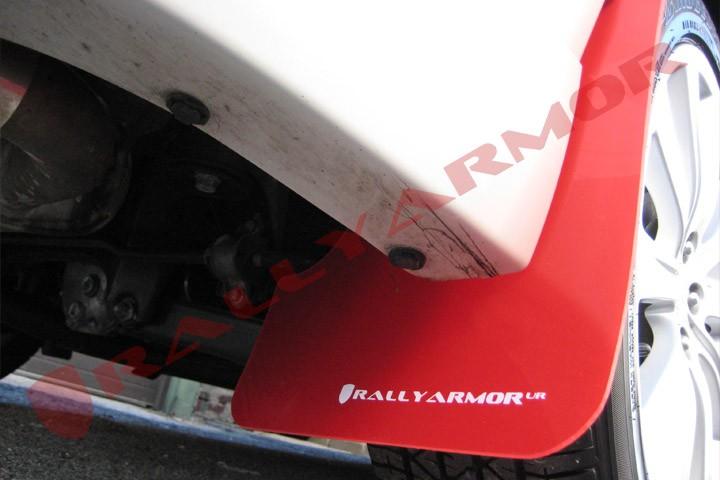 Rally Armor Black UR Mud Flaps Red Logo for 11-14 Impreza STI /& WRX Sedan